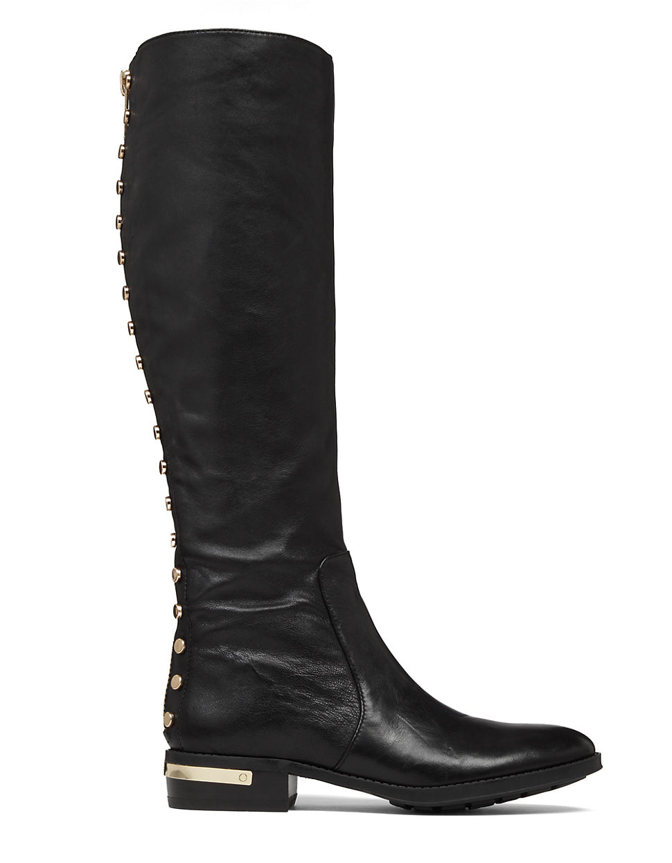 vince camuto parshell leather knee high boots in black lyst