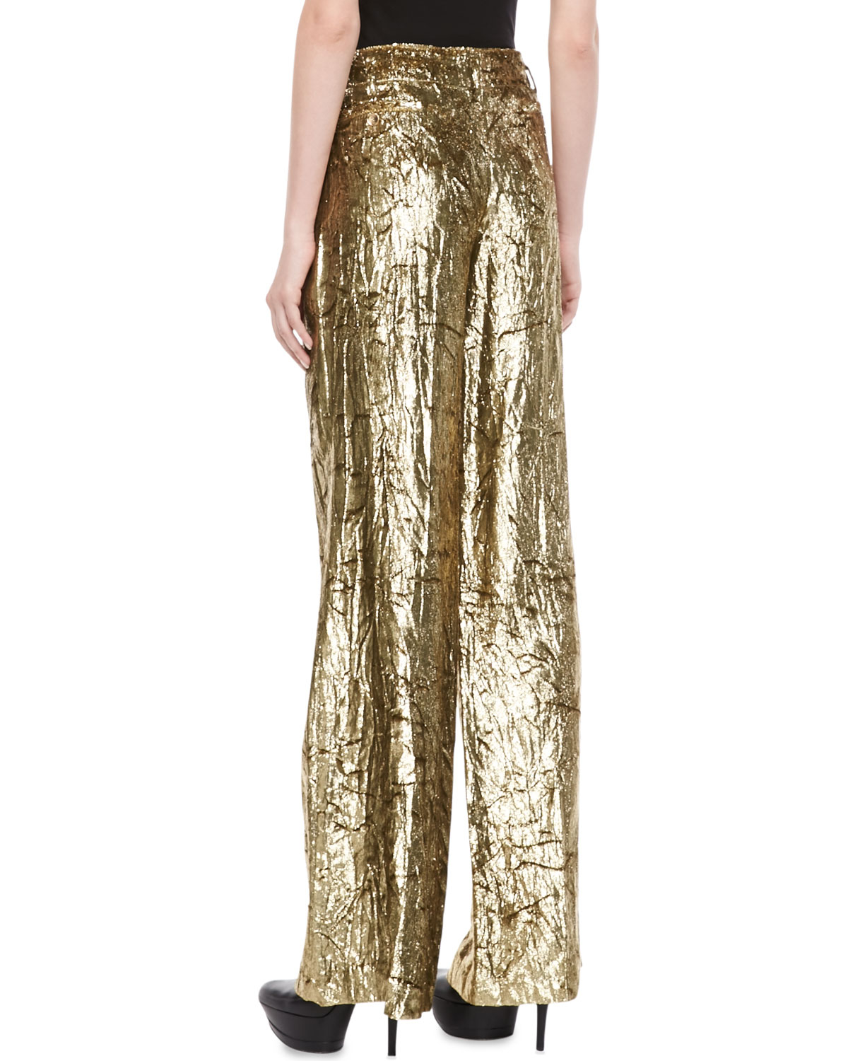 Cool Gucci Women39s Gold Pants  Free Shipping Today  Overstockcom