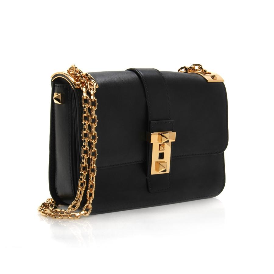 5dc88b22d8a Valentino Chain-Strap Shoulder Bag in Black - Lyst