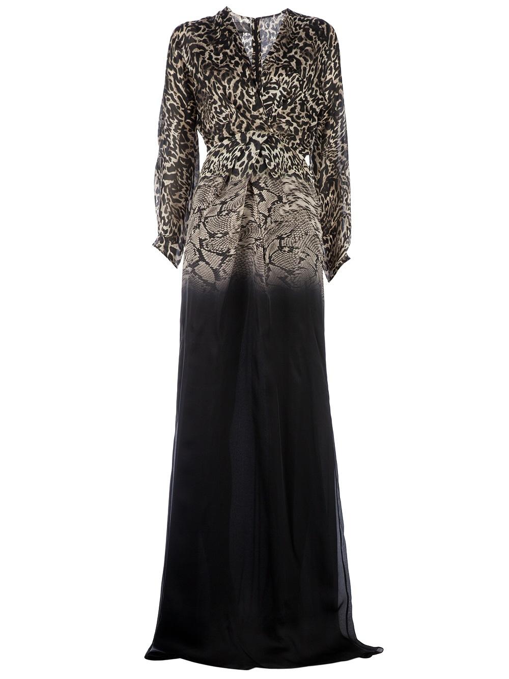 145b238bd3 Lyst - Giambattista Valli Animal Print Gown in Black