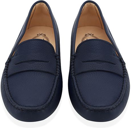 0023bae1f4d Tod s Gommino Leather Driving Shoe in Blue (Navy)