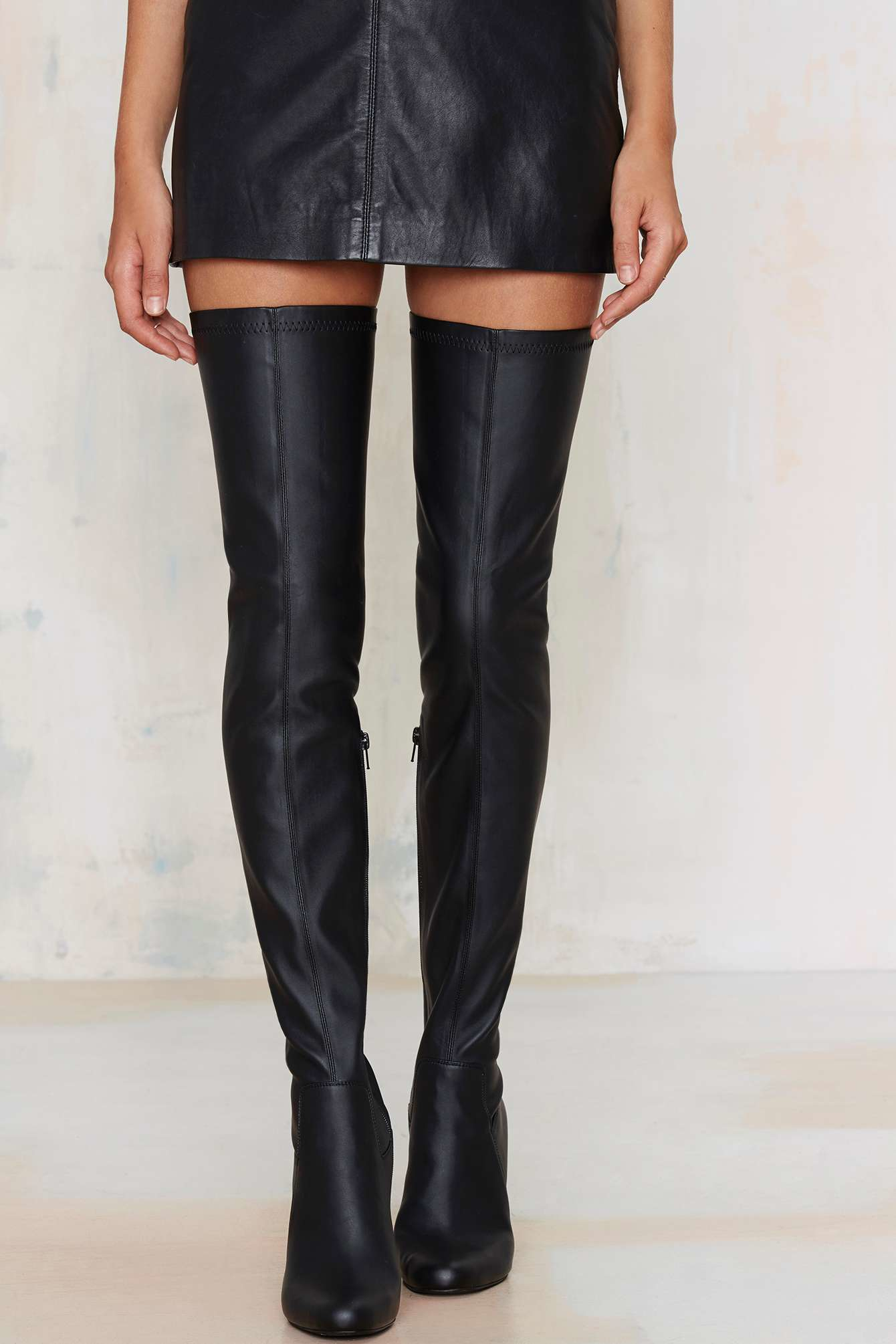 Lyst Jeffrey Campbell Perouze Thigh High Boot In Black