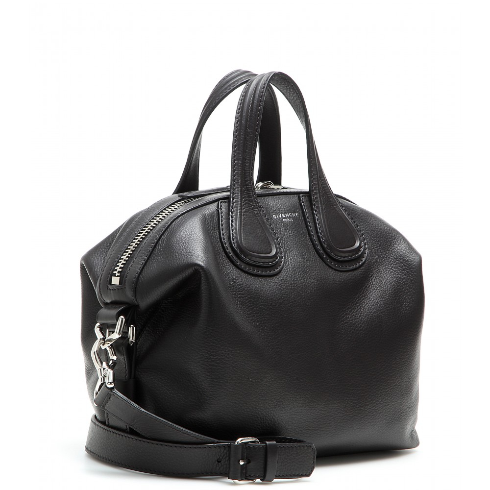 Lyst - Givenchy Nightingale Small Leather Tote in Black 52d56a52ae61f
