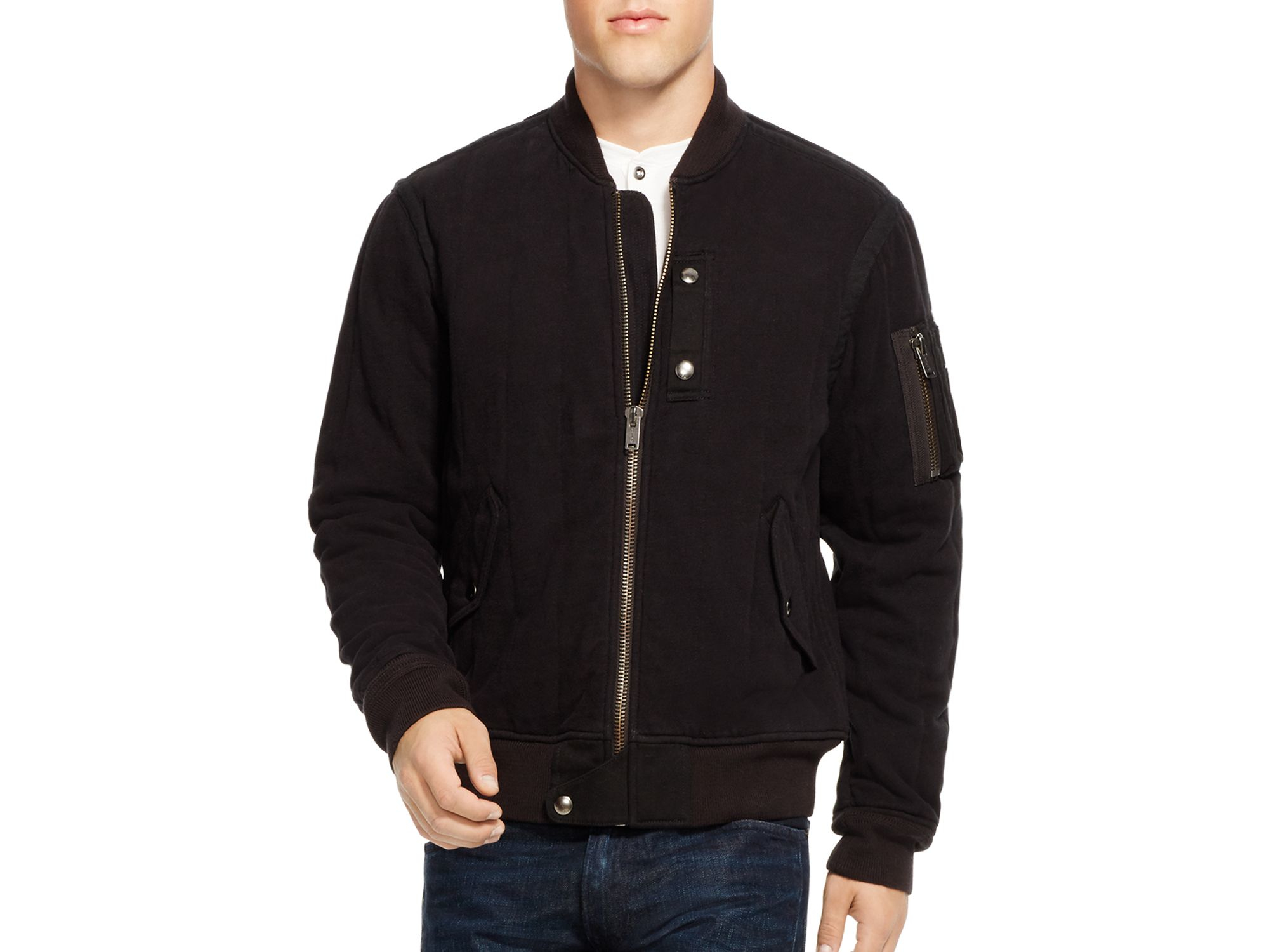 Polo ralph lauren Cotton Bomber Jacket in Black for Men | Lyst