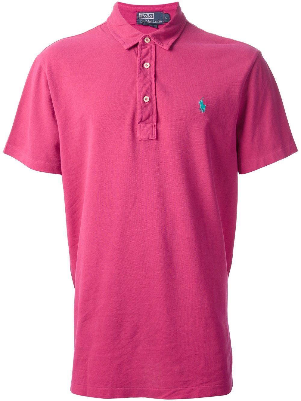 Polo ralph lauren classic polo shirt in pink for men pink for Pink and white ralph lauren shirt