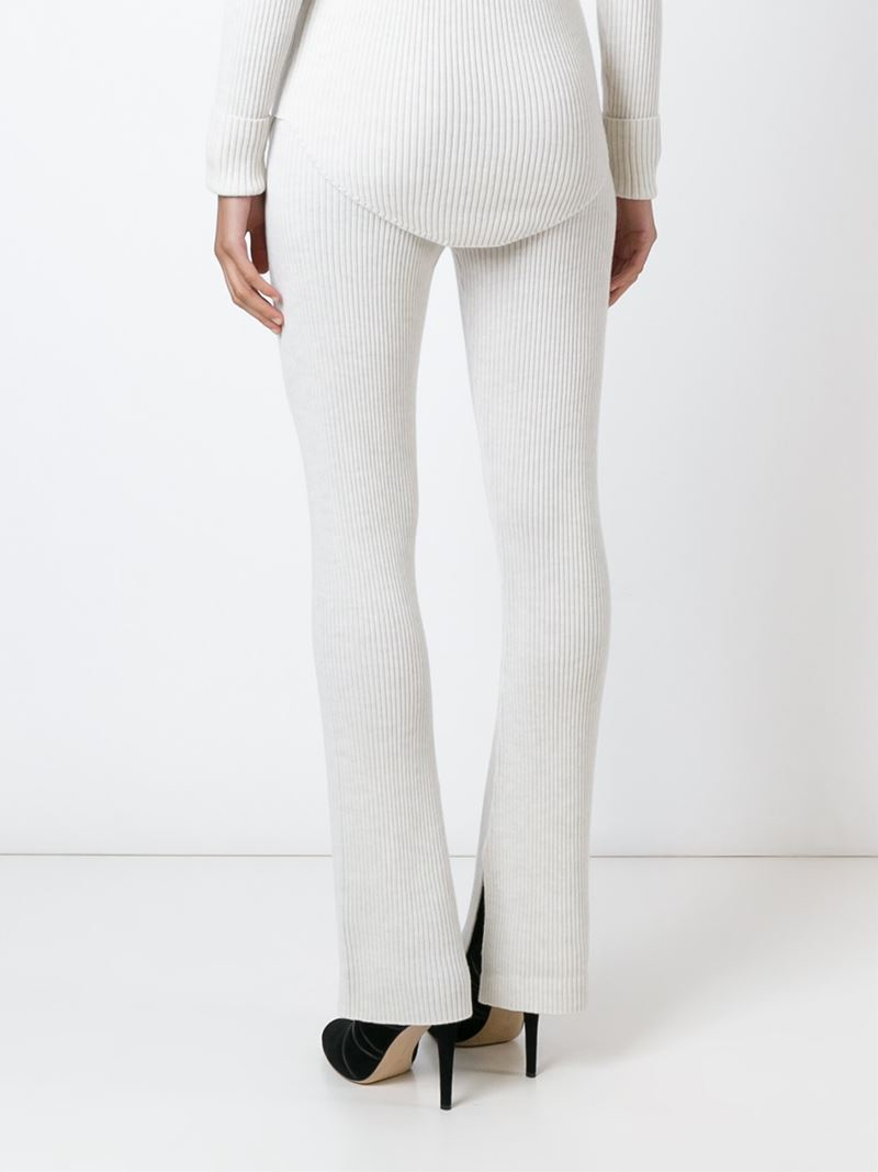 d49a3734 IRO Ribbed Knit Trousers in White - Lyst
