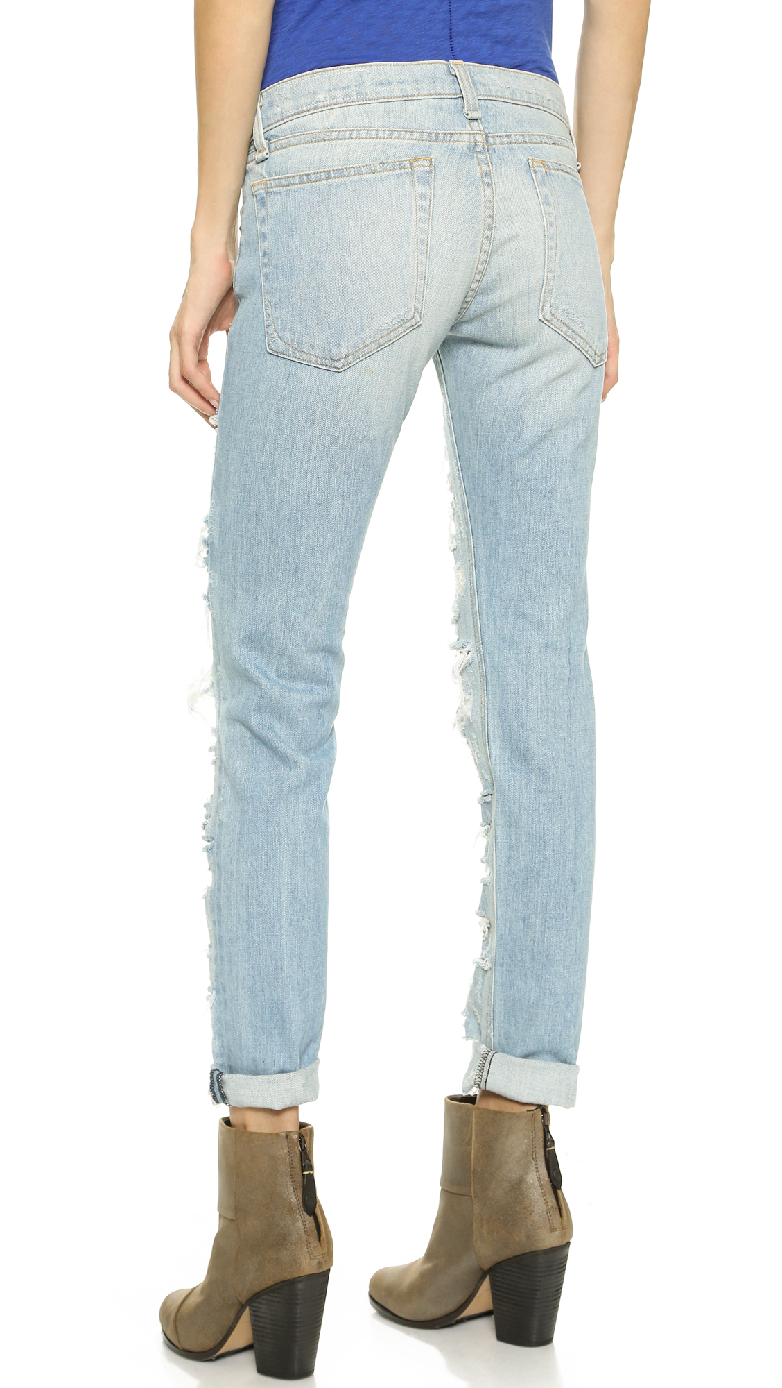 b08947f2be4 Rag & Bone Dre Skinny Boyfriend Jeans in Blue - Lyst