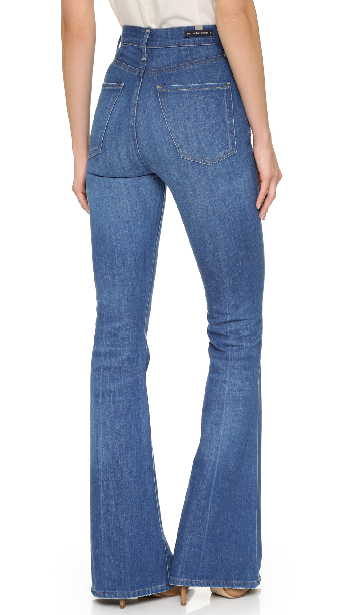 Citizens of humanity Cherie High Rise Flare Jeans in Blue | Lyst