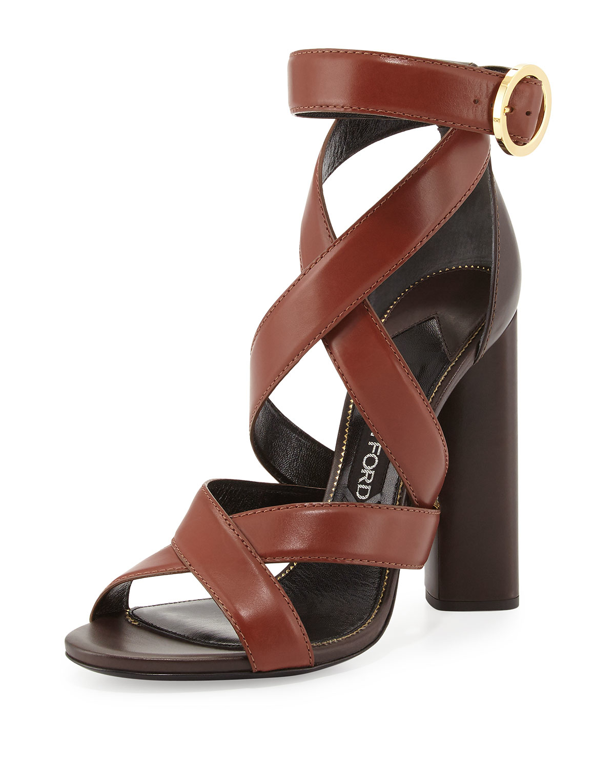 d8165de6ea58f8 Lyst - Tom Ford Two-tone Ankle-wrap Sandal in Brown