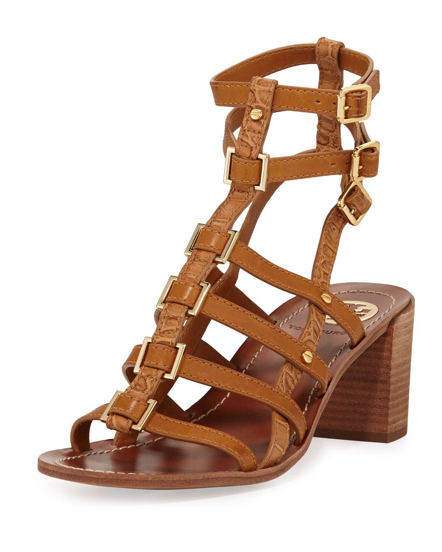 b964eb0d3ee Lyst - Tory Burch Reggie Leather Gladiator Sandal Tan in Brown