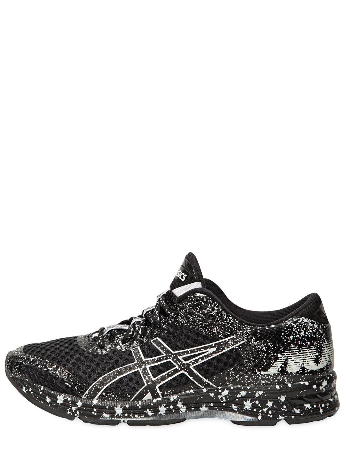 Black Gel Nails With One Silver Glitter Nail: Asics Gel Noosa Tri 11 Running Sneakers In Black (BLACK