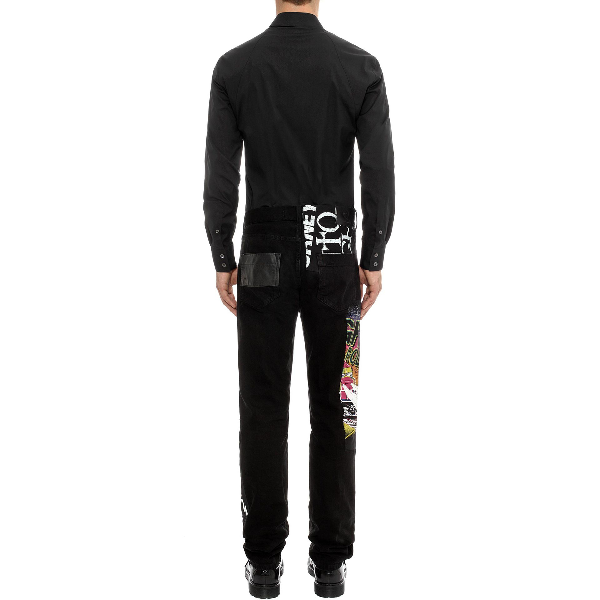 Mcq Band Patched Skinny Jeans in Black for Men | Lyst