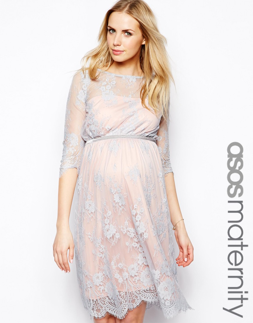 798838d94c98f Asos Lace And Floral Maternity Dress