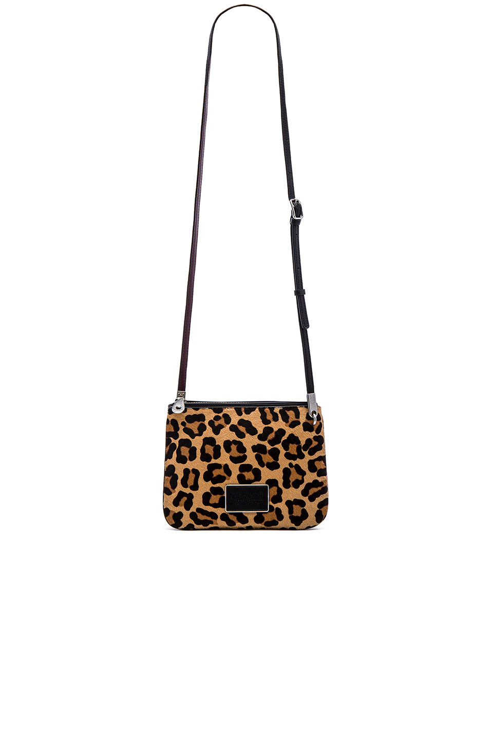 96e51a06c96d Lyst - Marc By Marc Jacobs Ligero Leopard Double Percy Crossbody