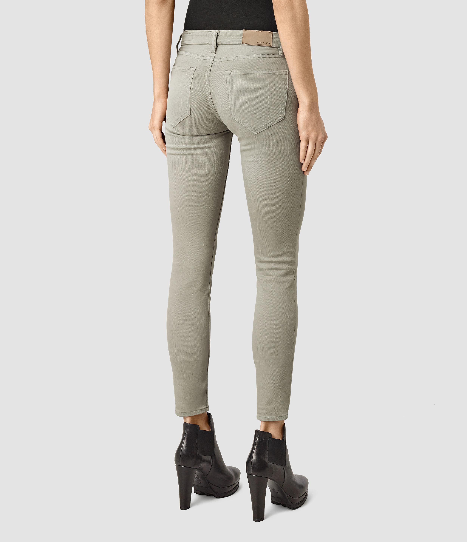 Allsaints Mast Garment Dye Jeans / Light Khaki in Natural | Lyst