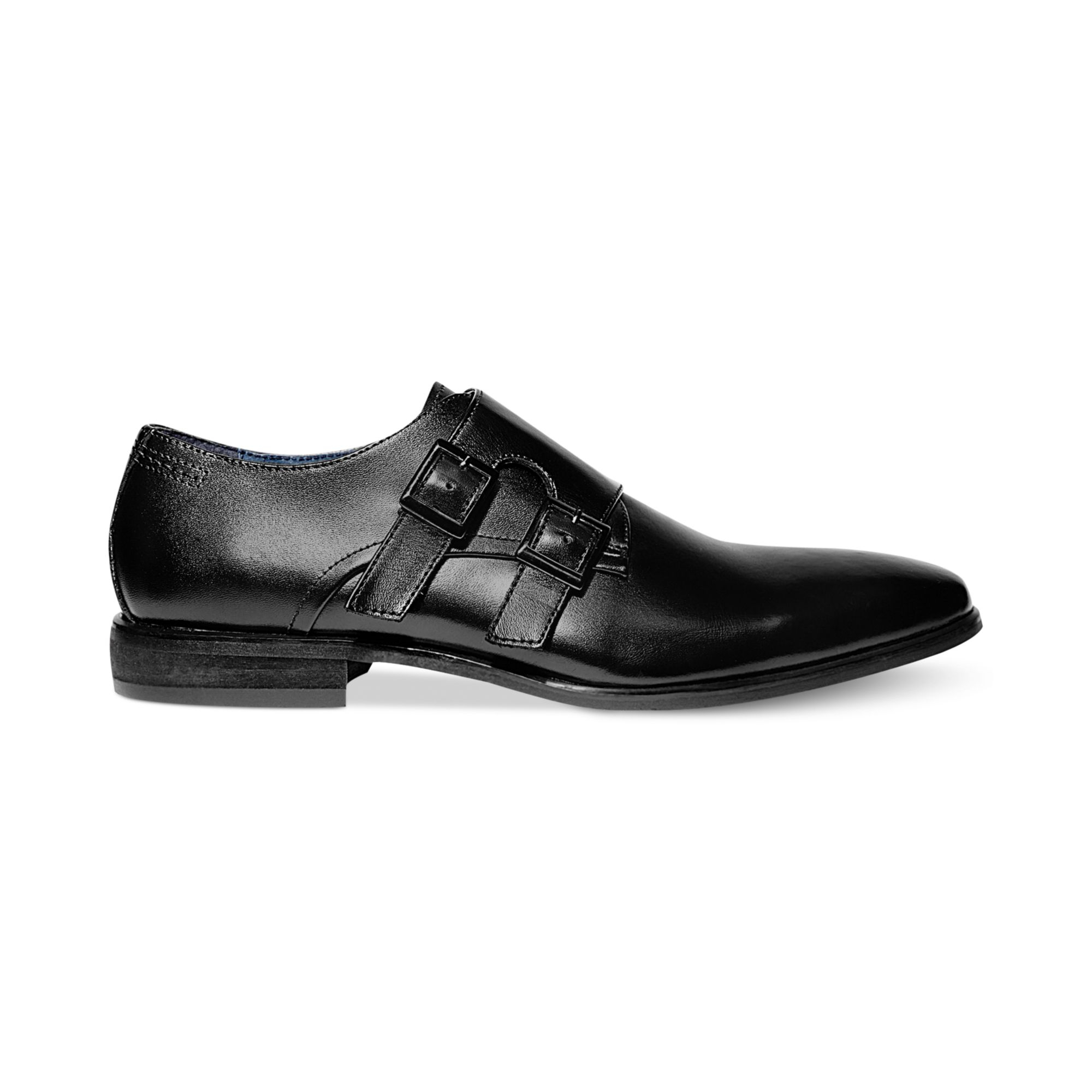 steve madden divito monk shoes in black for lyst