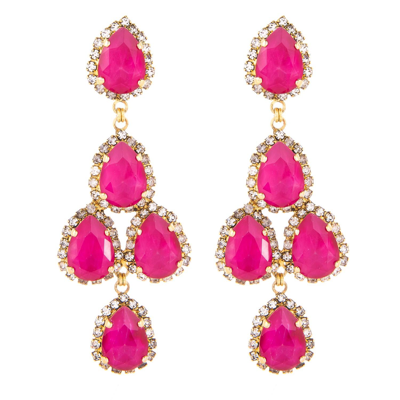 erickson beamon duchess of fabulous earrings pink in pink