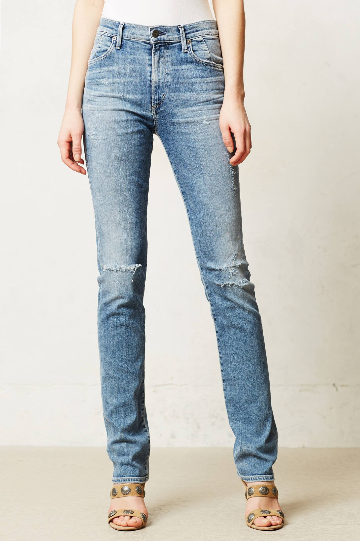 Citizens Of Humanity Arley Highrise Straight Jeans in Blue (Crosby) | Lyst