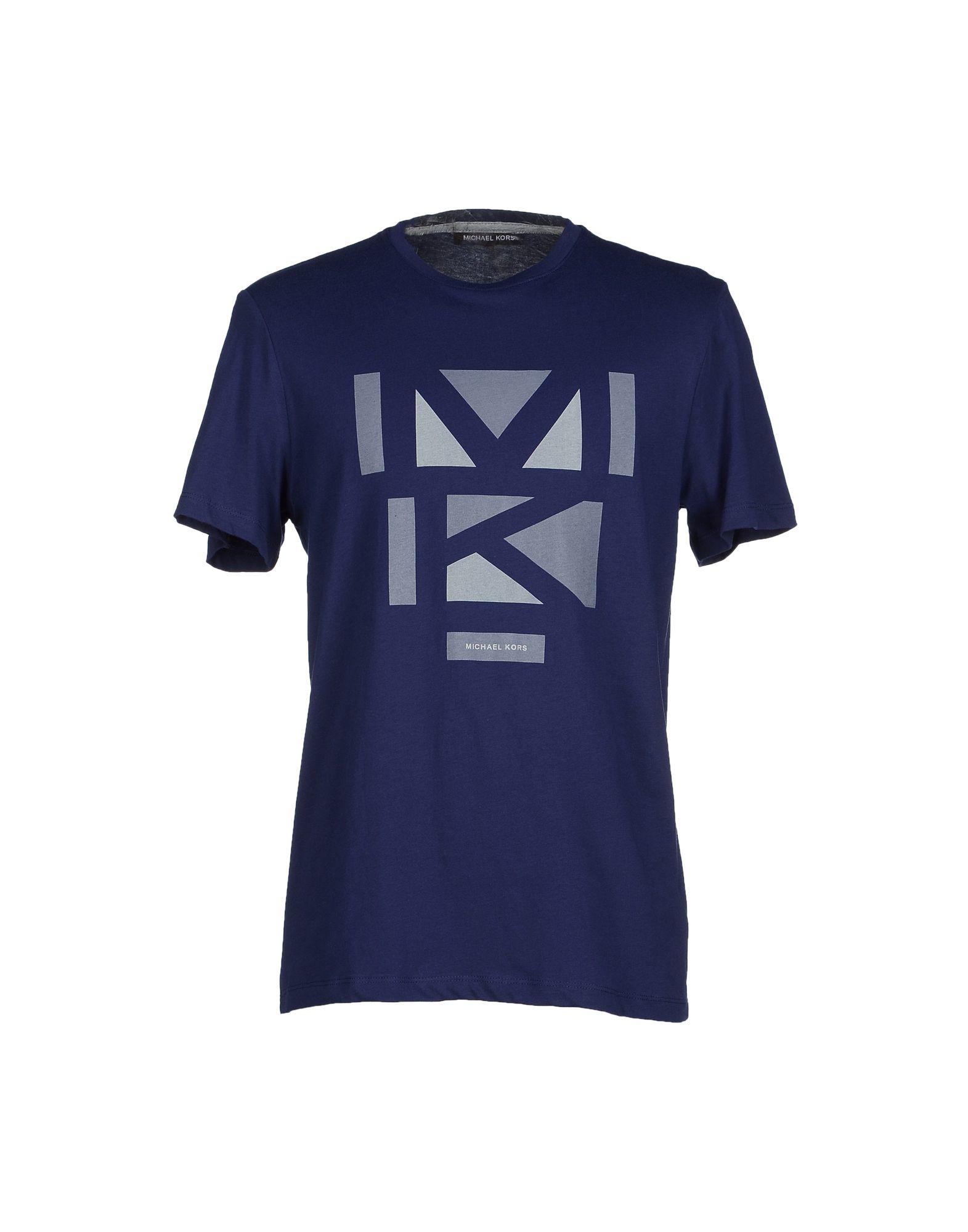 michael kors blue t shirt for men lyst. Black Bedroom Furniture Sets. Home Design Ideas