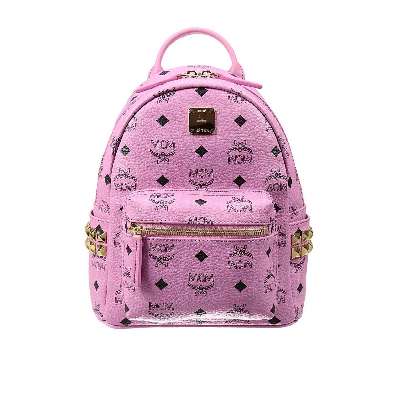 mcm backpack woman in pink lyst. Black Bedroom Furniture Sets. Home Design Ideas