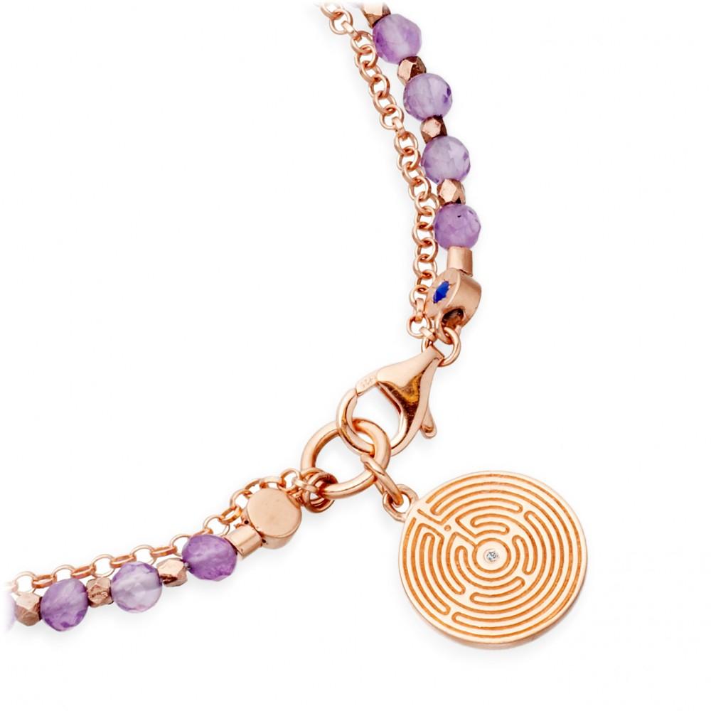 Lyst Astley Clarke Amethyst Friendship Bracelet With
