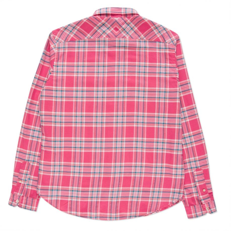 Paul smith Men's Tailored-fit Pink Brushed-cotton Plaid Shirt in ...