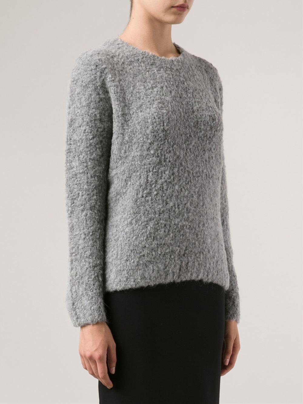 Sea Fuzzy Knit Sweater in Gray   Lyst