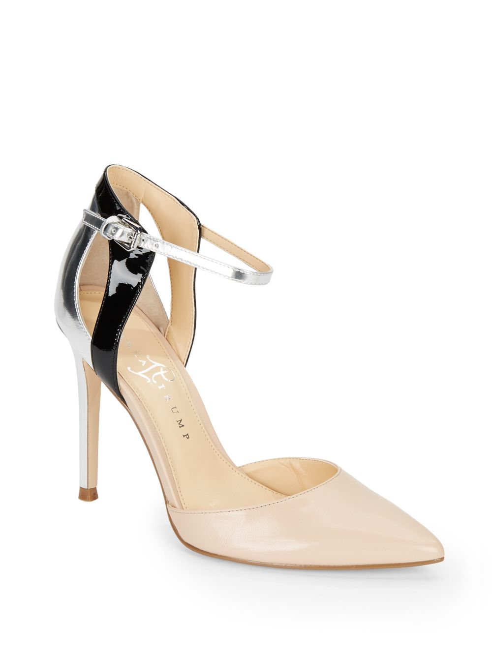 12d44bb948f Lyst - Ivanka Trump Gees Colorblock Leather D Orsay Pumps in Natural