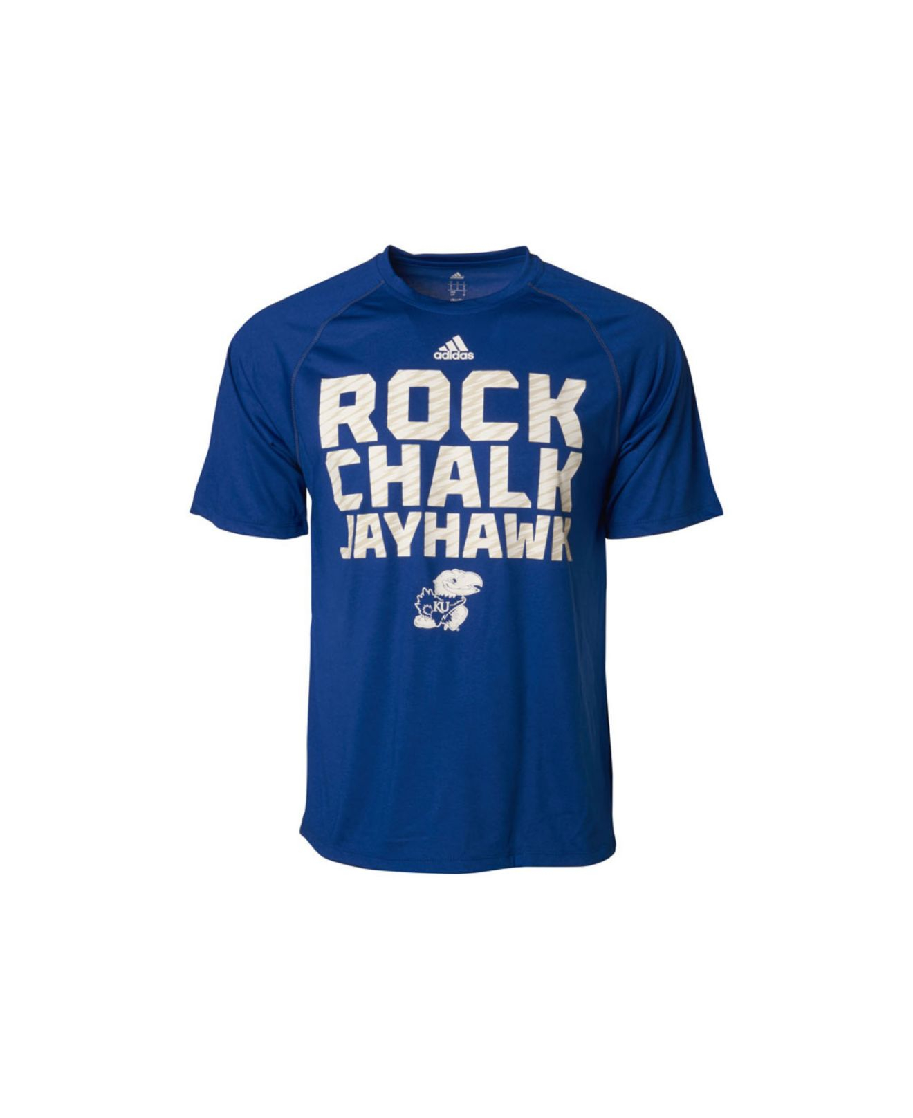 los angeles ab6a1 aa571 Lyst - adidas Men S Kansas Jayhawks Sideline Swagger T-Shirt in Blue ...