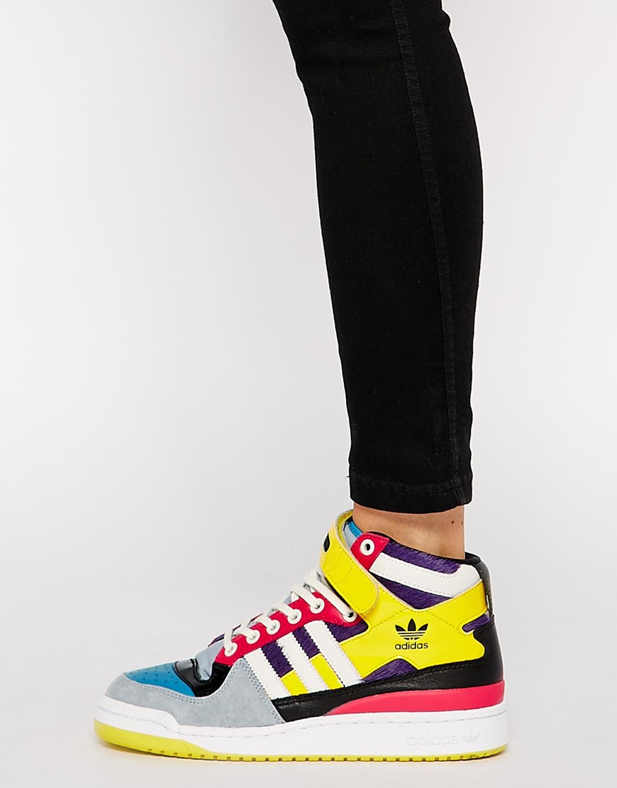 half off 3ef30 a6428 ... best price lyst adidas forum mid high top sneakers 5c37a 3550e