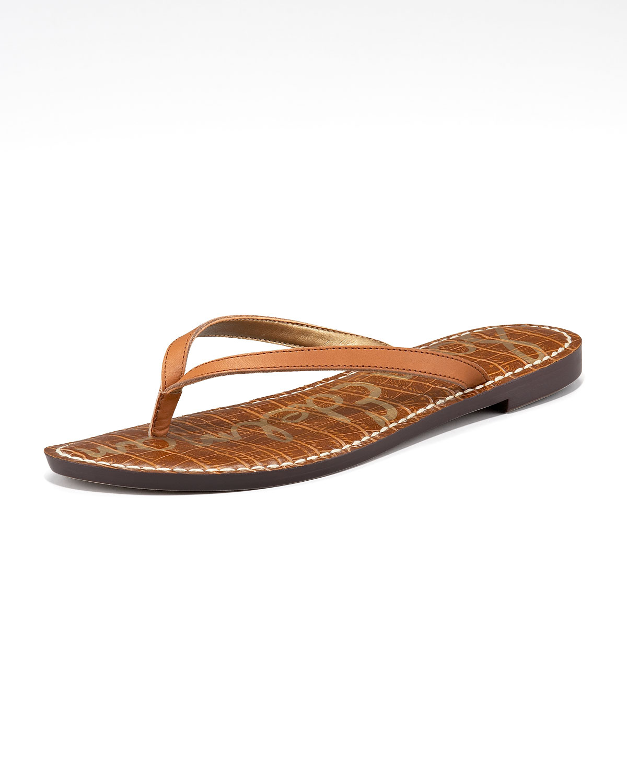 012ba0289f20b Lyst - Sam Edelman Gracie Flat Thong Sandal