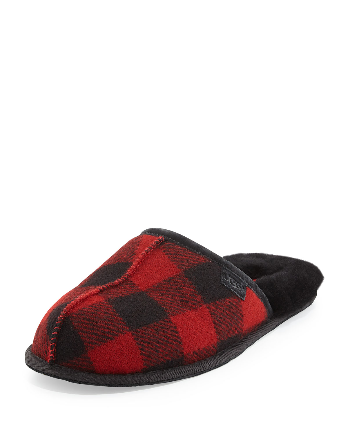 Ugg Scuff Buffalo Plaid Slipper In Red For Men Lyst