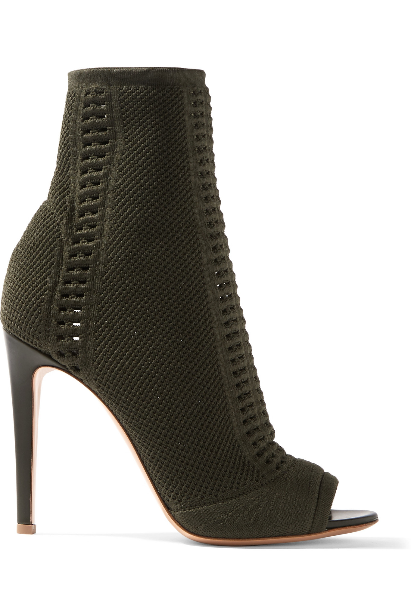 gianvito rossi stretch knit boots in green lyst. Black Bedroom Furniture Sets. Home Design Ideas