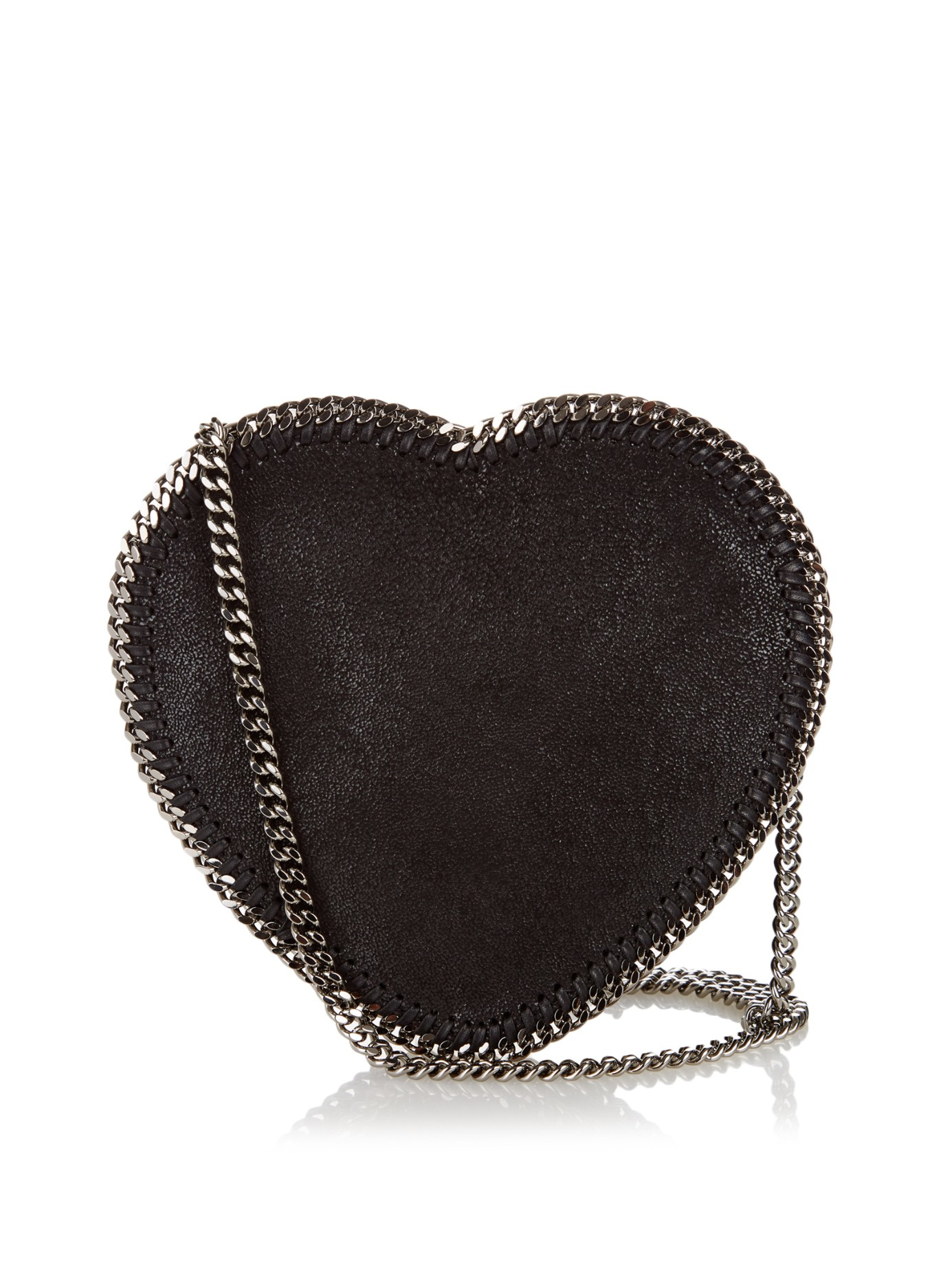 Stella mccartney Heart Falabella Faux-suede Cross-body Bag ...