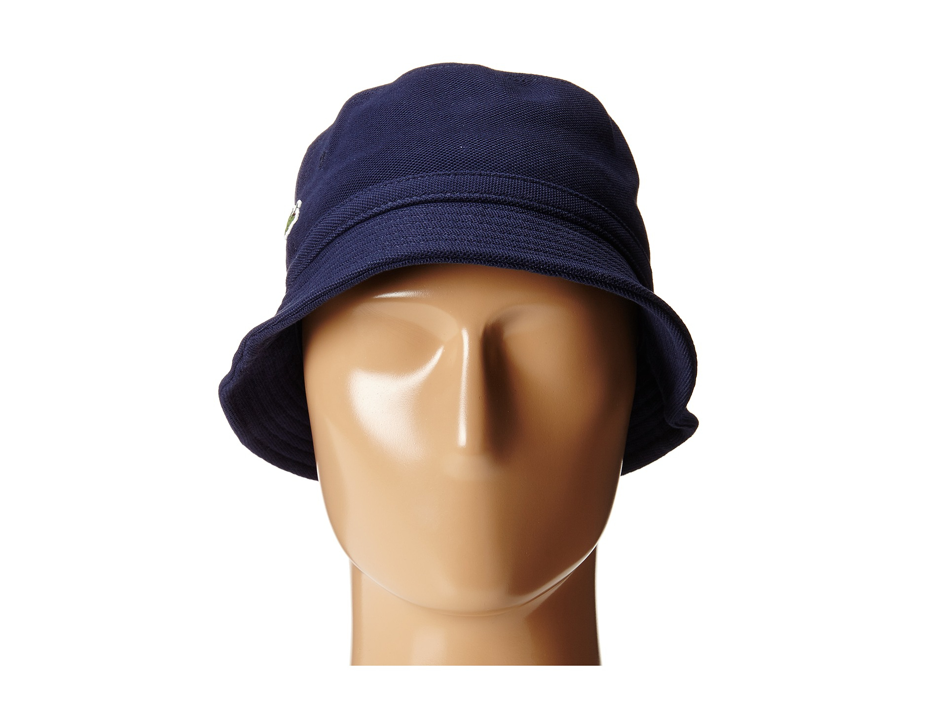 Lyst - Lacoste Pique Bucket Hat in Blue for Men e2bc32b6bbcd