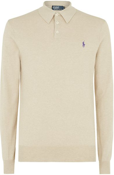 Polo Ralph Lauren Pima Cotton Long Sleeve Polo Shirt In