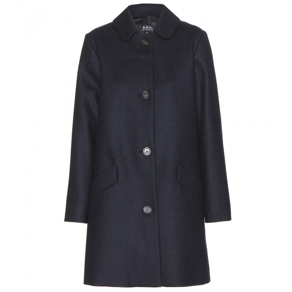 Lyst A P C Dolly Wool Coat In Blue