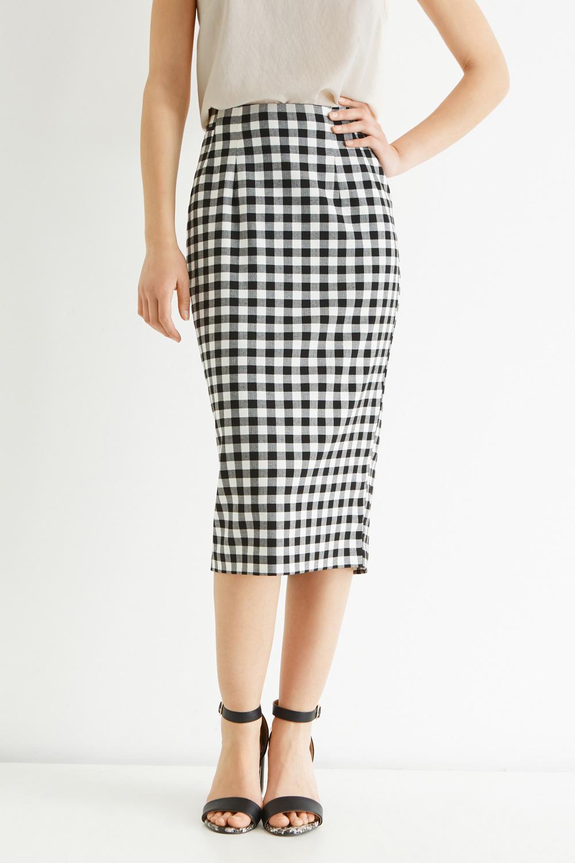 River Island Gingham Skirt