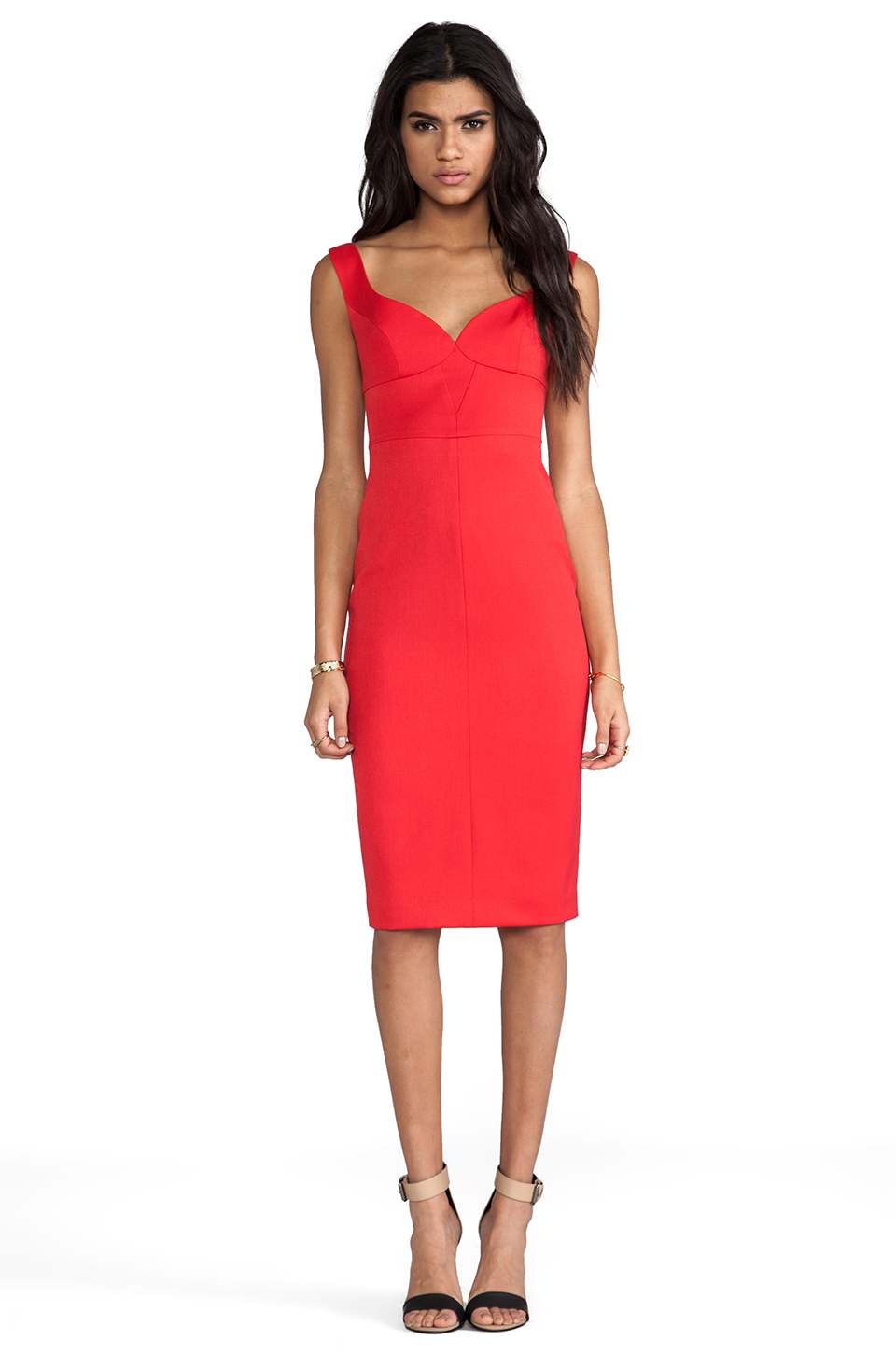 bd9225fd Black Halo Ally Sheath Dress in Red in Red - Lyst