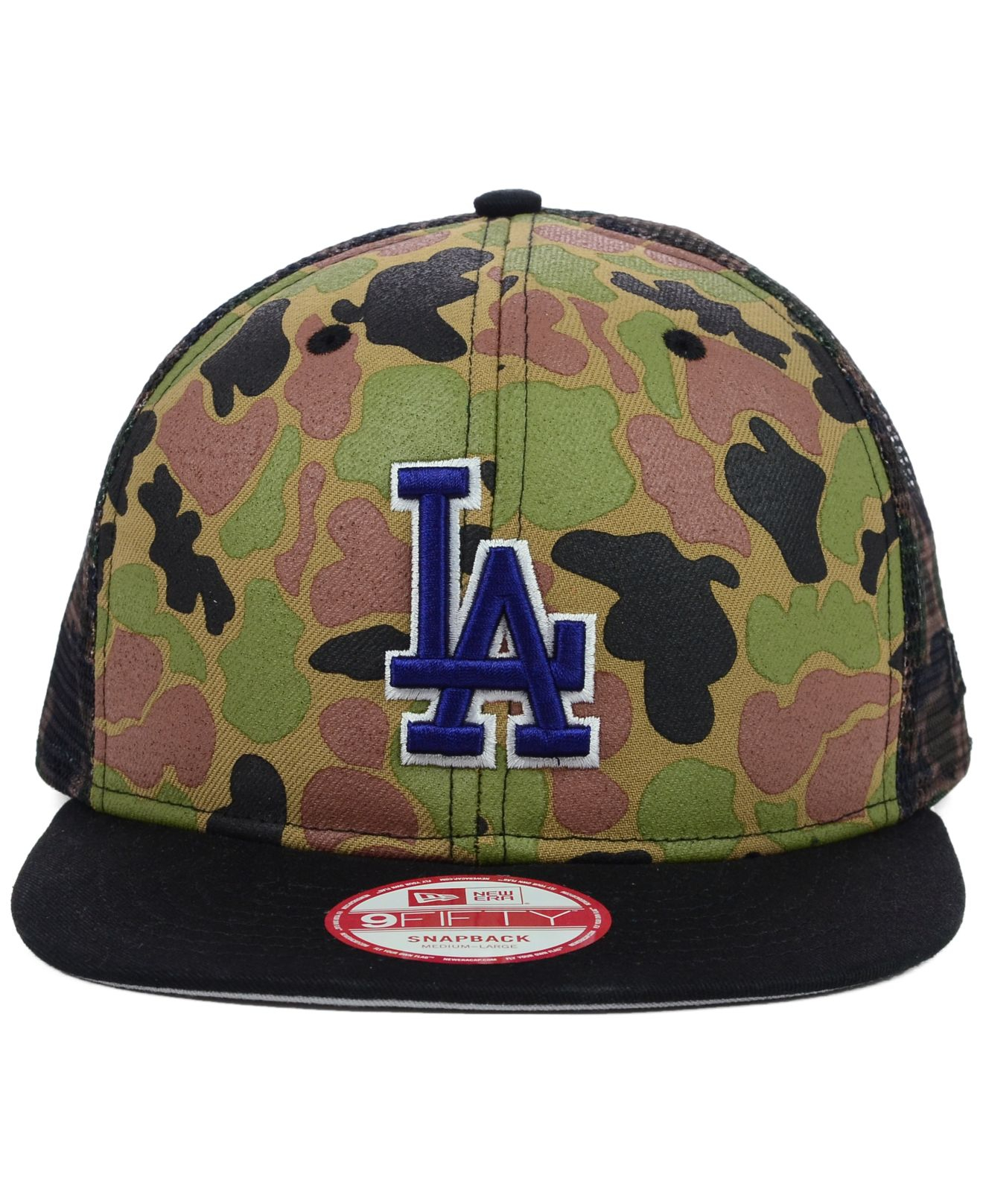 Lyst - KTZ Los Angeles Dodgers Camo Face Mesh Trucker 9fifty ... 547aba1c33d0