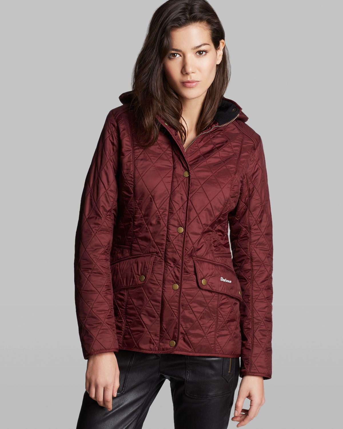 Lyst - Barbour Jacket - Chromatic Quilted in Red