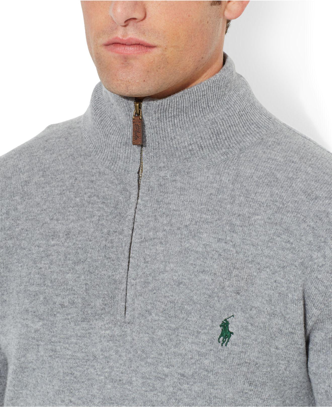 Ralph Lauren Men Pullover Grey Merino Sweaters