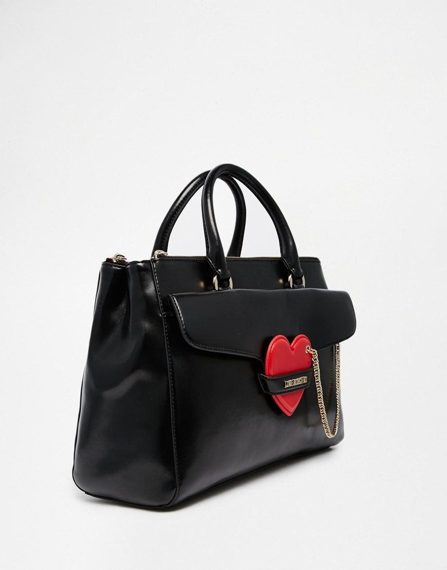 1619fcec8a827 Lyst - Love Moschino Tote Bag With Heart Detail in Black