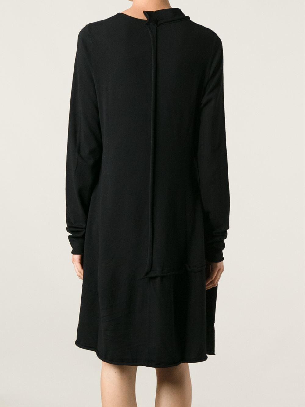 Rundholz Oversized Sweater Dress in Black | Lyst