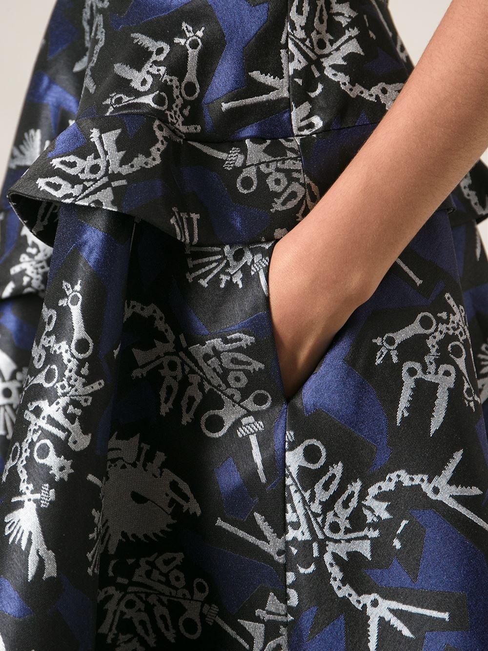 Lyst Kenzo Monster Jacquard Dress In Black