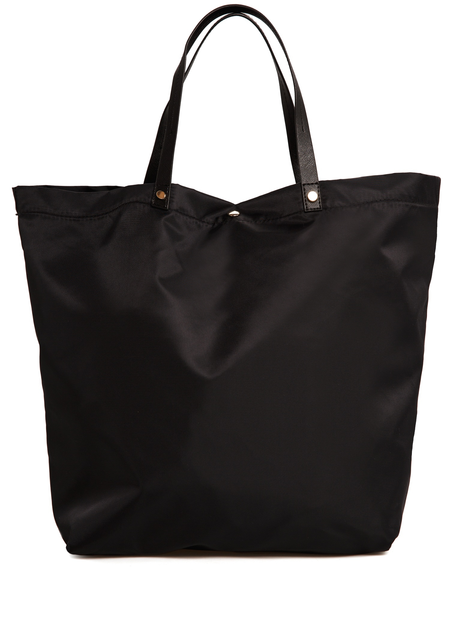 Mango Nylon Shopper Bag In Black Lyst