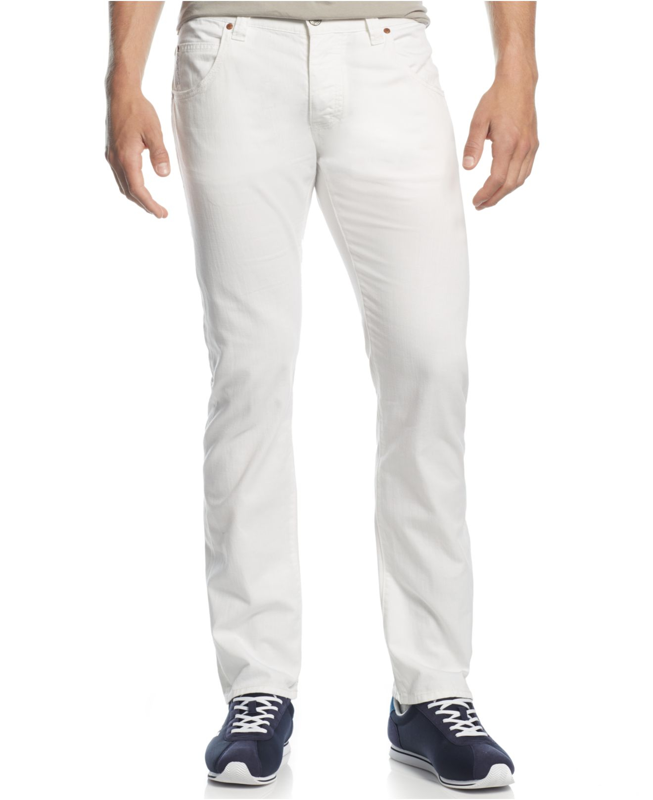 Armani jeans White Slim Straight Jeans in White for Men | Lyst