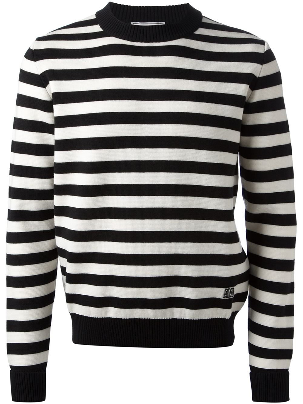 Ami Striped Sweater in Black for Men | Lyst