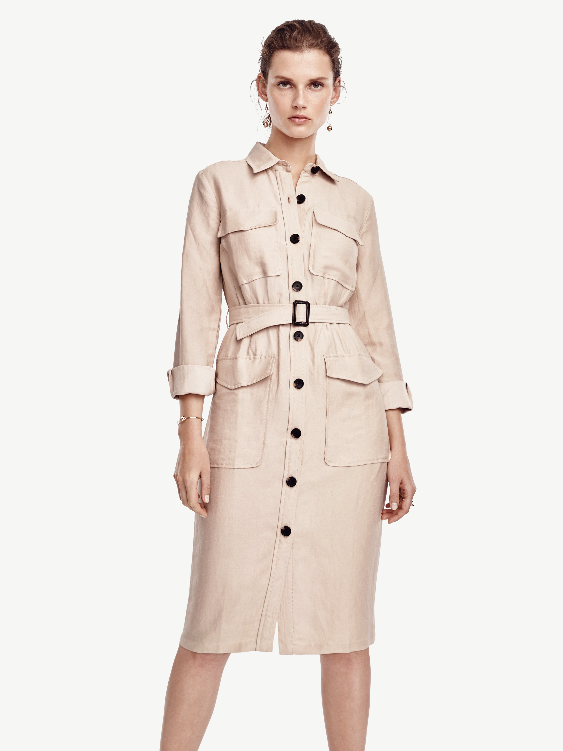 ad5386701981 Ann Taylor Safari Trench Dress in Natural - Lyst