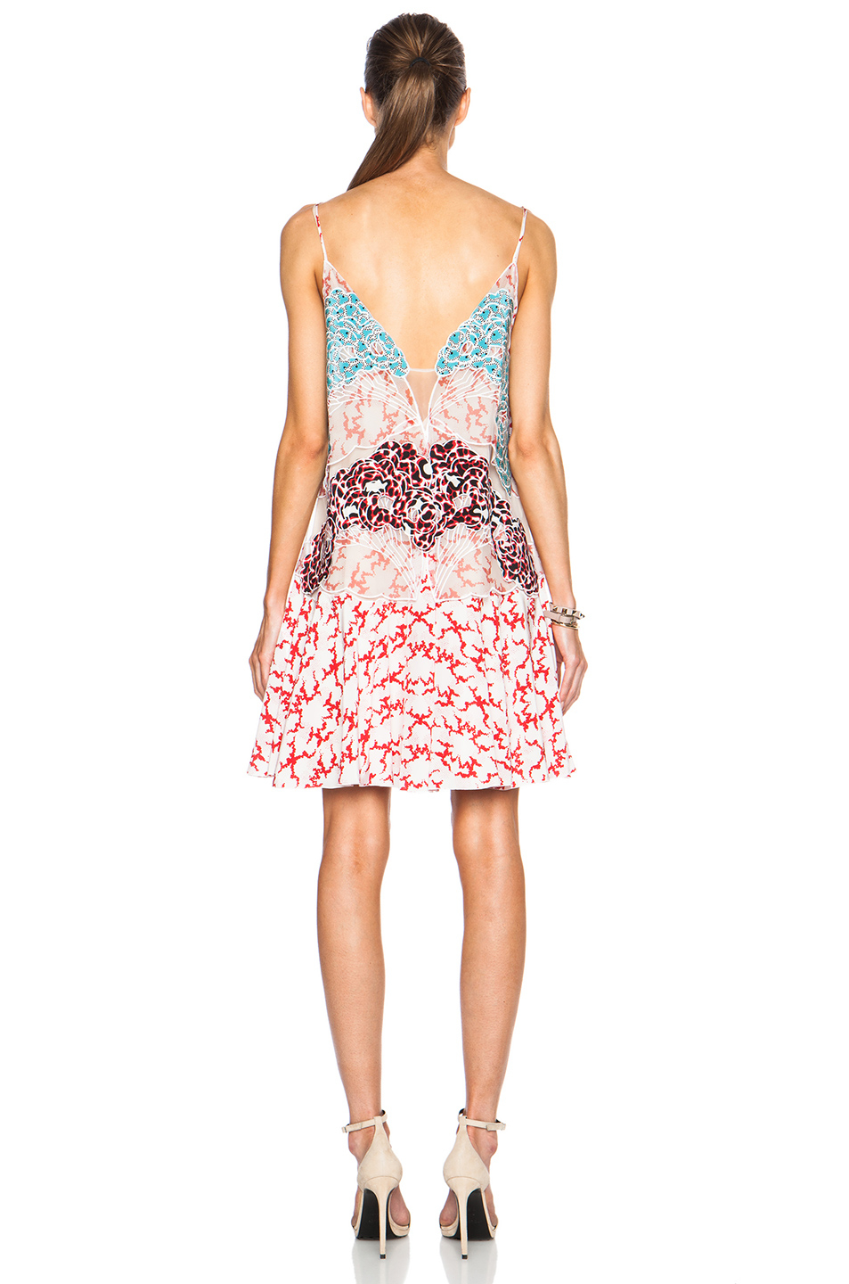 Lyst Stella Mccartney Printed Tank Dress In Pink